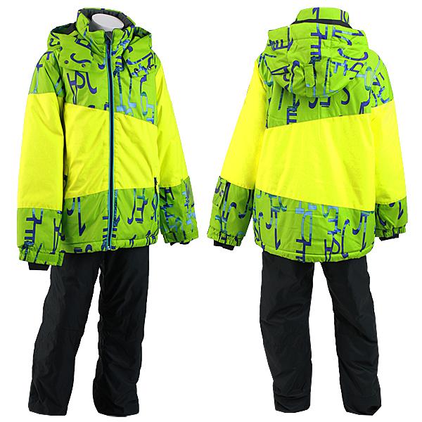 ONYONE(オンヨネ)RESSEDA レセーダ 男の子 女の子 ジュニア スキーウェア 上下セット RES70001 333P009(LIME×BLACK)