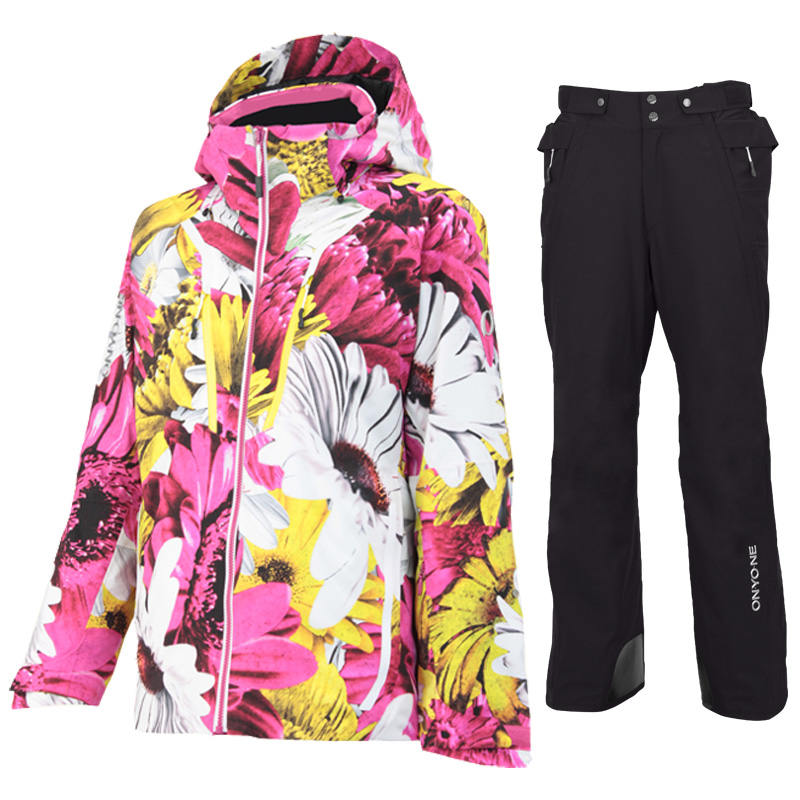 スキージャケット&サイドオープンパンツ 上下セット ONJ99P40-1-99051 956PF009(FW-PINKxBLACK)