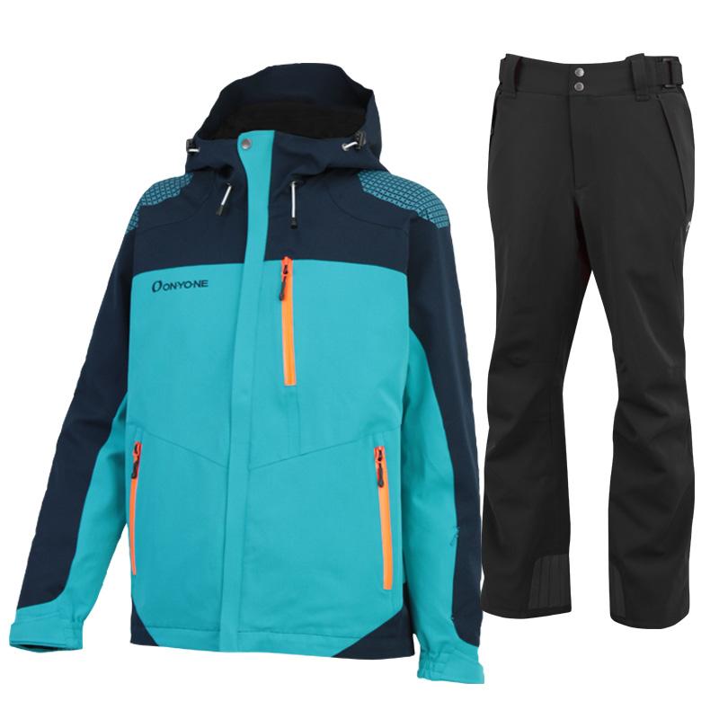 スキージャケット&パンツ 上下セット ONJ99350-99310 577009(GREENxBLACK)