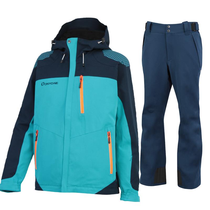 スキージャケット&パンツ 上下セット ONJ99350-99310 577699(GREENxNAVY)