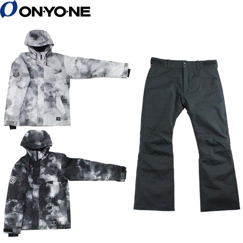 ONYONE(オンヨネ) OTS91102P メンズ スノーボード スキー スーツ プリント柄 上下セット