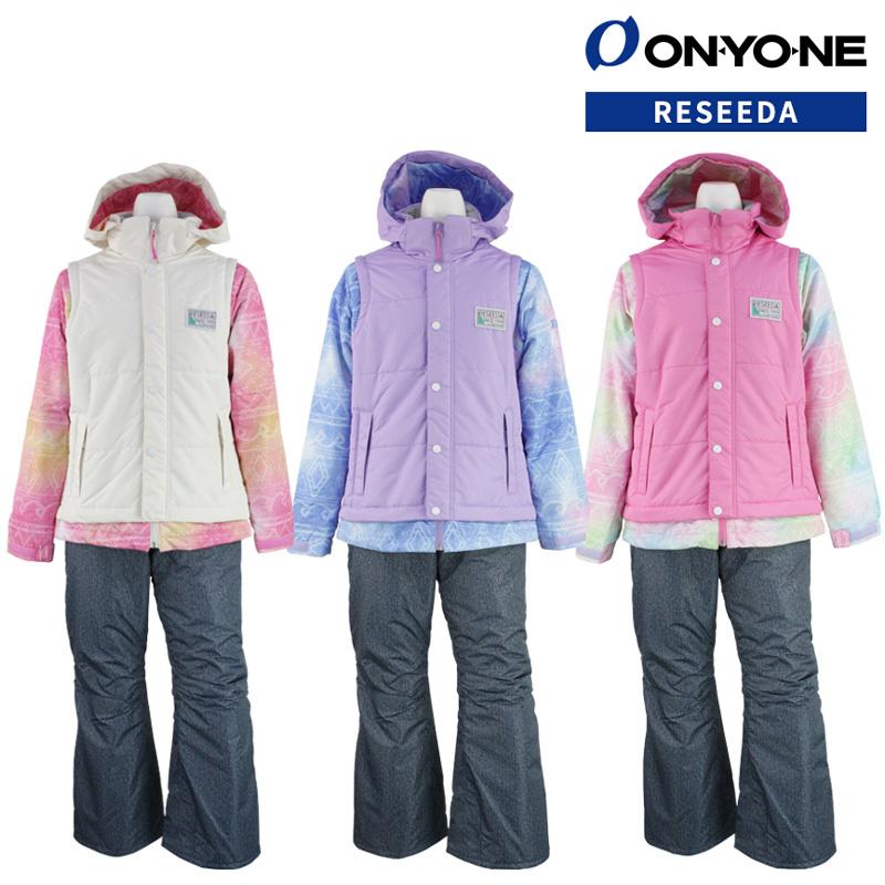 ONYONE(オンヨネ) RES62102 RES62101 スキーウェア ガールズ ジュニア 上下セット