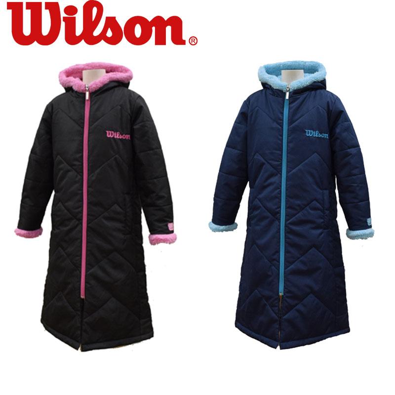 普通便で送料無料 WILSON ウィルソン WJ6083 ベンチコート 野球 引き出物 サッカー ジュニア 贈物 テニス