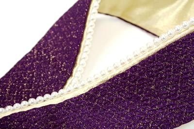 ITA collar ITA collar layered collar long-sleeved kimono hakama pearl purple ITA collar