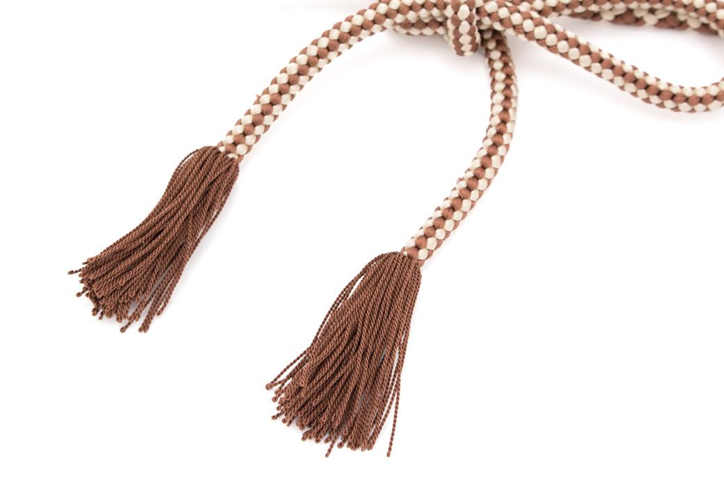 羽織紐 茶色 ブラウン 白 アイボリー 撚り房 手組み 正絹 組紐 レディース 女性用 着物 和装 日本製あす楽対応c3AL5q4RjS