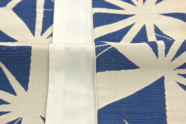 OBI yukata and Komon summer wear things weave bloated blue hemp reversible 半巾 band Strip