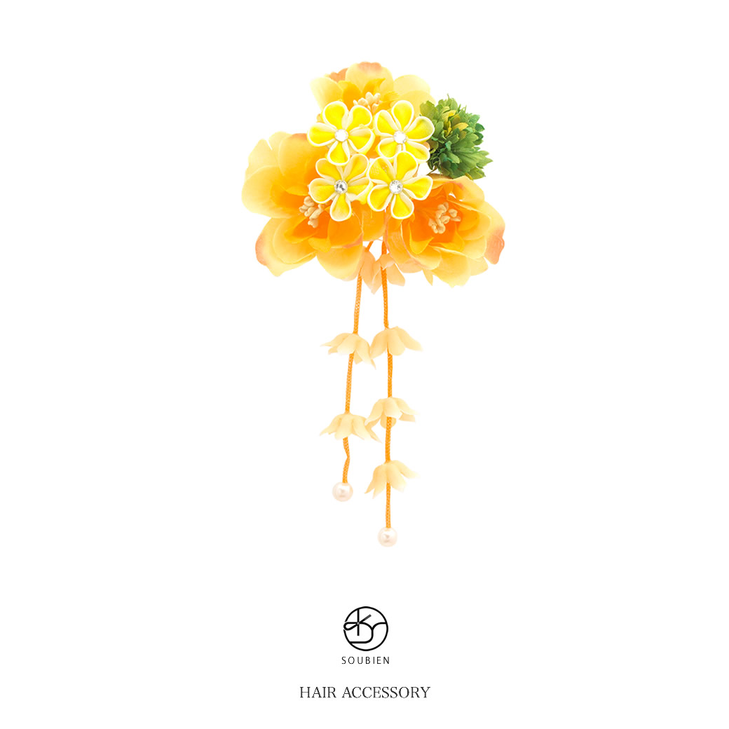 Soubien Hair Accessories For The Hair Ornament Yellow Yellow Orange