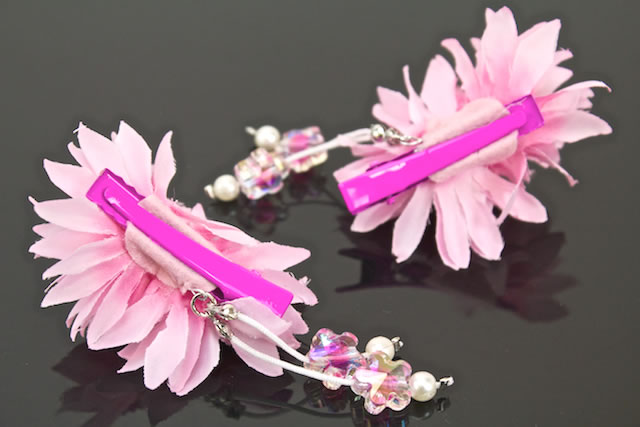 Small ornament 2 sets yukata flowers flower pink bijoux cleaves bra belt ornament summer yukata kids kids Barrettes hair flower hair accessories