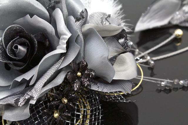 Ornament coming of age ceremony kimono graduation hakama hakama wedding gray × black kimono dress kimono kimono wedding hair pin hair flower hair accessories furisode