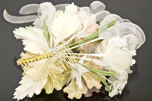 Ornament yukata coming of age ceremony kimono graduation hakama hakama ivory flower flower hair accessories Barrettes hair kimonos furisode yukata