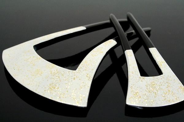 Hair ornament hairpin kanzashi houmongi color tomesode black tomesode kimono black and gold kimono formal hair accessories