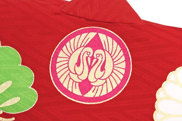 初着 産着 赤 梅 花 ブランド JAPAN STYLE ジャパンスタイル 女の子 女児 祝着 熨斗目 お宮参り【あす楽対応】