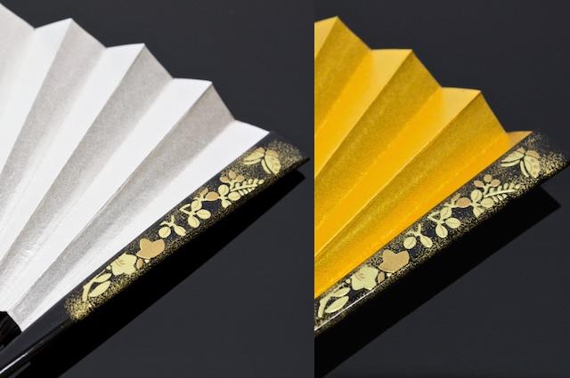 Karagumi Butterfly fan gold and silver for a wedding for matrimonial wedding wedding reception tomesode visiting kimono kimono Suehiro-fan
