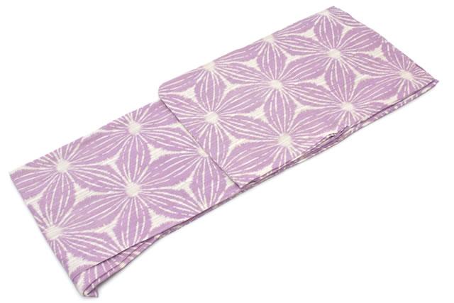 レディース浴衣 ブランド bonheur saisons 薄紫 パープル 麻の葉 花 綿麻 洗える 夏祭り 花火大会 女性用 仕立て上がり 【S・フリー】【送料無料】【あす楽対応】