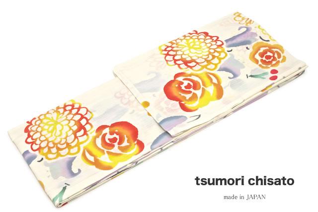 浴衣 女性 レディース浴衣 tsumori chisato ツモリチサト ブランド 注染 アイボリー 花 蝶 綿 【送料無料】【あす楽対応】