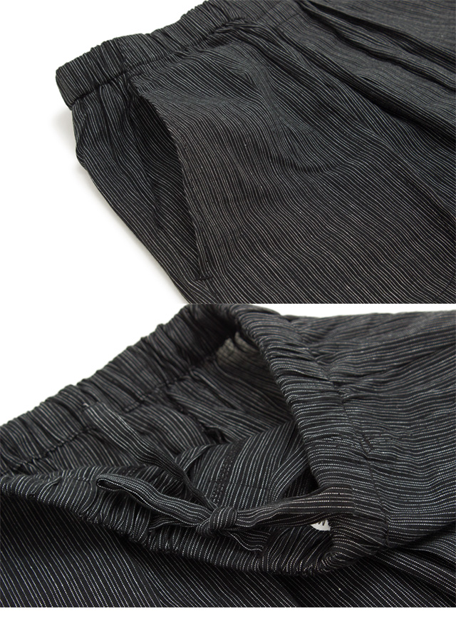 Jinbei men's brand bonheur saisons Black Black 1000 Plaid stripe cotton  jinnbei hisashizou men's room wearing bonursezon style up