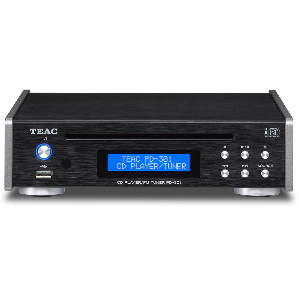 ティアック CDプレーヤー/FMチューナー (ブラック) PD-301-B