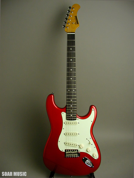 【アウトレット】 Bacchus バッカス ストラトタイプ エレキギター BST-350 CAR キャンディアップルレッド