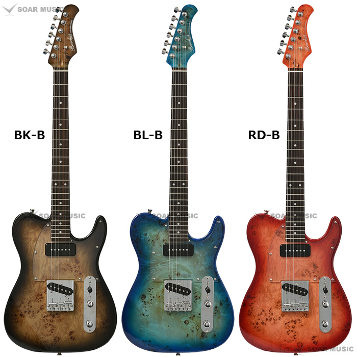 Bacchus TACTICS-BP/R バールポプラトップ エレキギター テレキャスタータイプ バッカス ユニバースシリーズ
