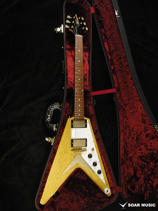 【予約受付】フライングVモデル MFV・K-STD/NJ NA BLK-PG (MOMOSE / モモセ) エレキギター コリーナボディ