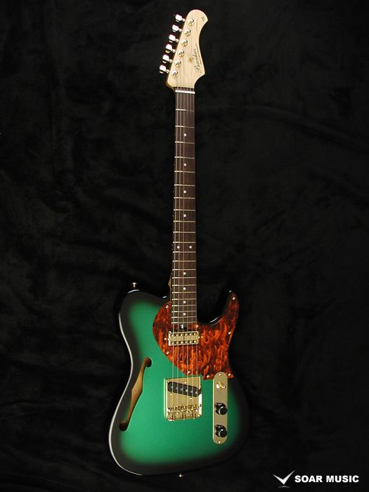 【限定1本製作モデル!】Bacchus バッカス エレキギター テレキャスタータイプ シンラインタイプ TACTICS HOLLOW-I.C MG-B メタリックグリーンバースト #170005 インスピレーションカスタムシリーズ
