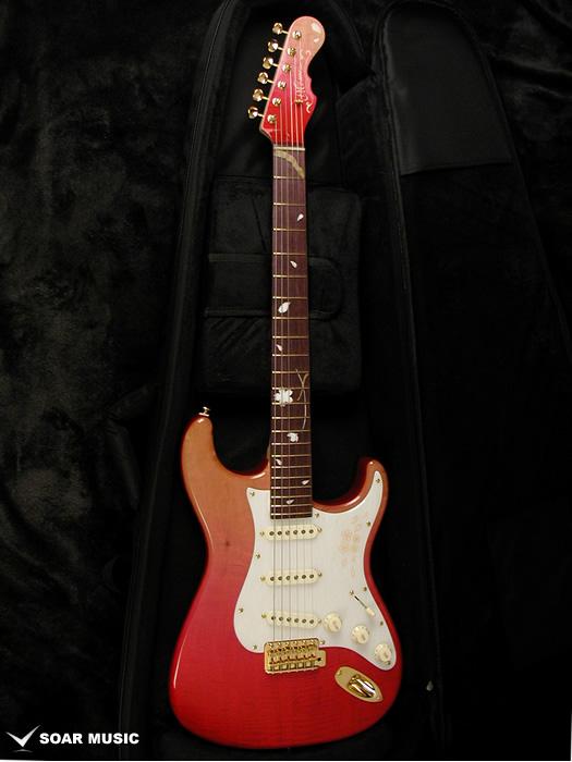 Momose(モモセ)エレキギター ストラトタイプ MC-SAKURA-SP18 PNK-GRD 桜(サクラ)ピンクグラデーション 国産ギター 日本製 限定モデル