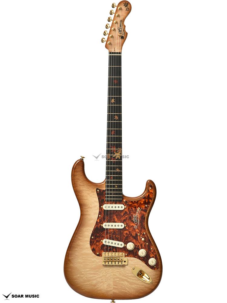 【限定製作モデル】 Momoses ストラトタイプ MC-Autumn Leaves-MF'18 モモセ 国産 ハンドメイドギター 楓(カエデ)トップ 日本製