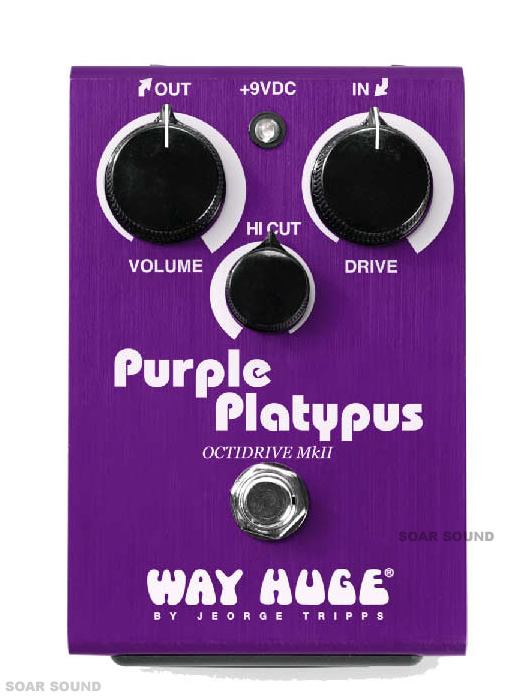 Way Huge Electronics オクターブファズ WHE800 PURPLE PLATYPUS リミテッドエディション 限定モデル コンパクトエフェクター