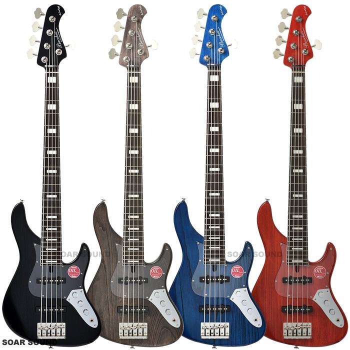 Bacchus バッカス 5弦ベース クラフトシリーズ Craft Series WL524DX-ASH パッシブ 24F 24フレット仕様