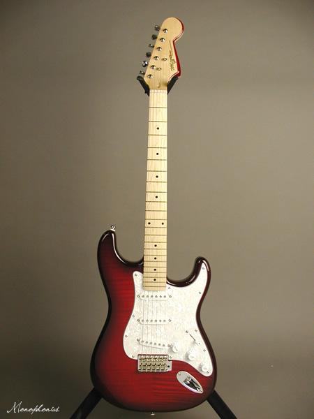 Monogram モノグラム ストラト タイプ MGS-CTM FRD フレイムレッド ギグケース付属 ストラトキャスター タイプ エレキギター ギター キルトメイプル トップ メイプル指板