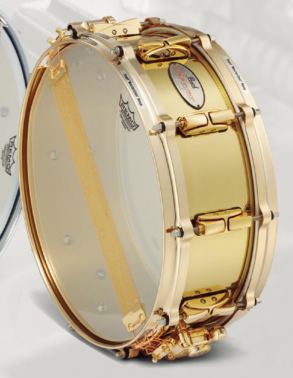 【受注製作】 Pearl / パール スネアドラム D-FLAVOR RFB1450 Reference Brass のゴールドバージョン