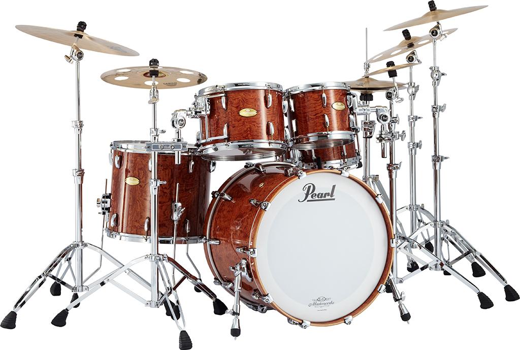 【スネア付属・5点セット】Masterworks Natural Bubinga / Pearl パール ドラムセット