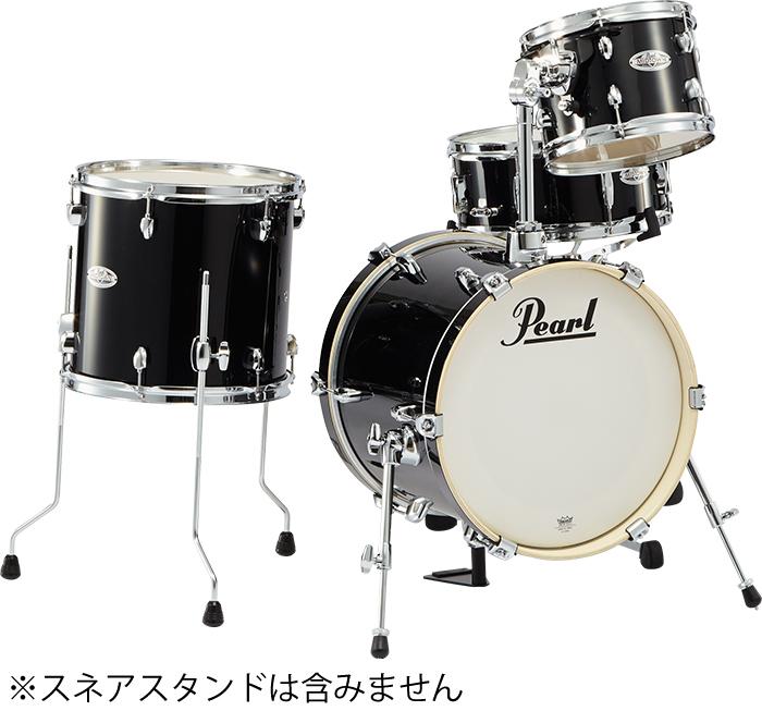 送料無料!クラブでのギグやストリートプレイに最適!Pearl(パール)ドラムセット・シェルパック MIDTOWN ミッドタウン MDT764P/C ジェットブラック