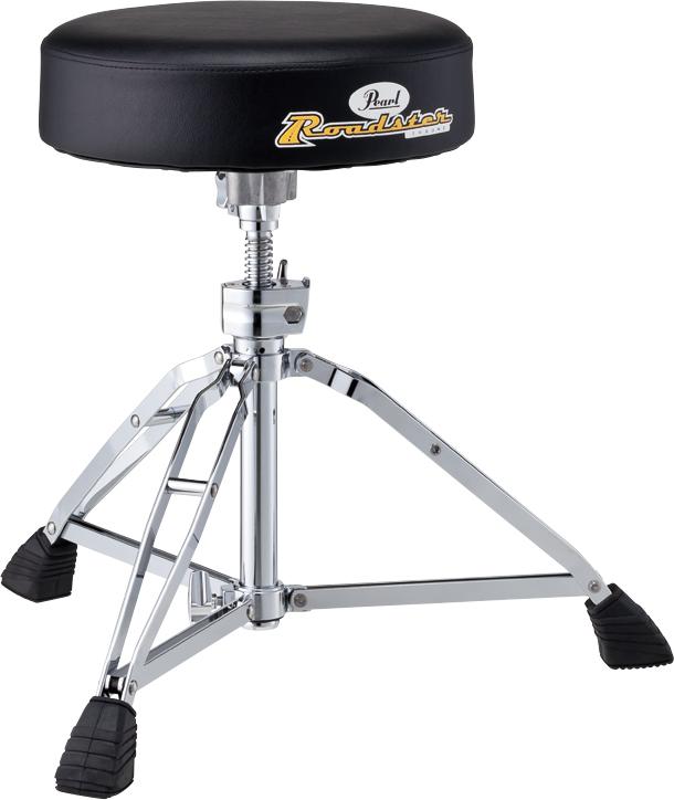 【ショートタイプ】 Pearl パール ドラムスローン Drum Thrones ドラム用 イス D-1000SN スクリュータイプ ラウンドシートタイプ 丸型 短め
