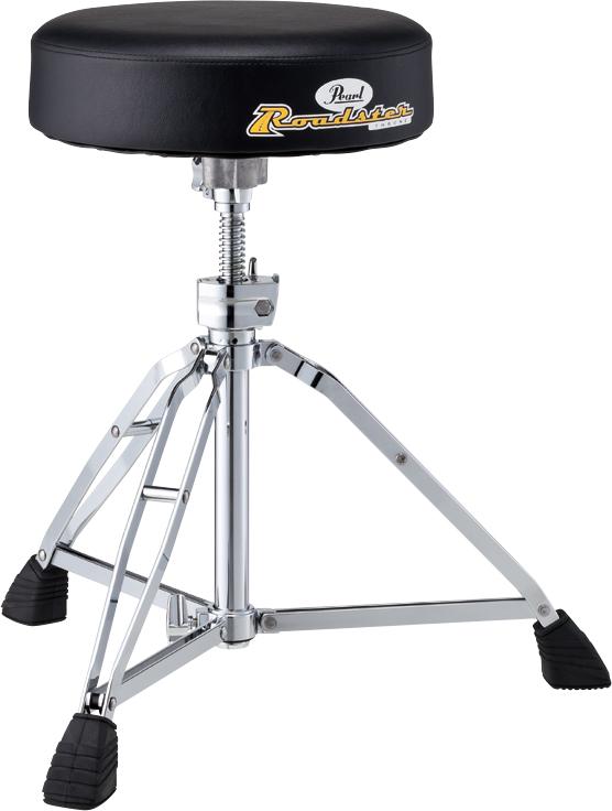 Thrones ドラム用 ラウンドシートタイプ Pearl ドラムスローン パール 丸型 イス Drum スクリュータイプ D-1000N
