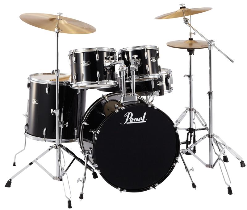 送料無料! Pearl パール ドラムセット ROADSHOW(ロードショー)ジェットブラック No.31 JET BLACK 初心者にもおすすめ!入門用 エントリーモデル RS525SCW/C 黒色