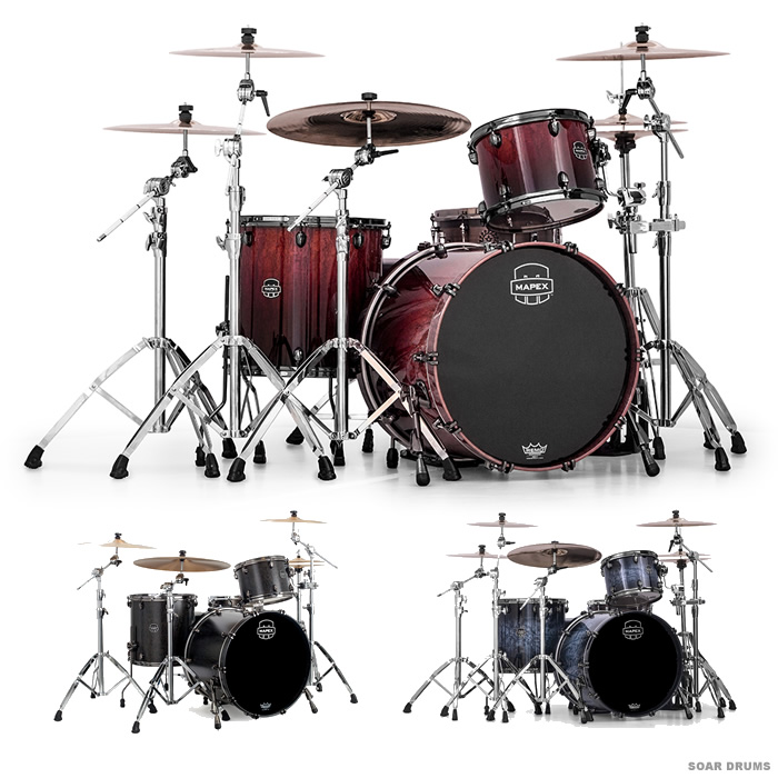 Soar Sound Mapex Drum Set Saturn V Shell Kit Classic Rock Sv426xb