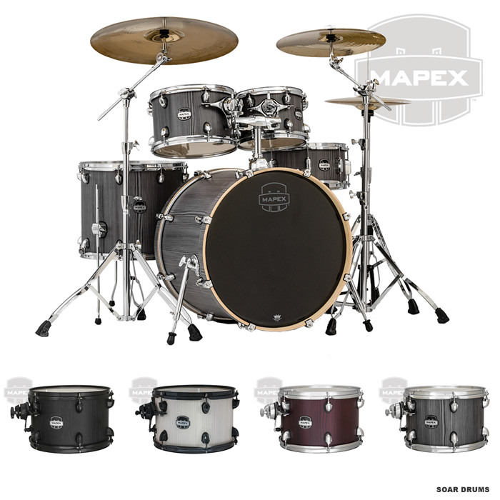 Soar Sound Mapex Mars Series Drum Set 529 Rock Shell Pack Ma529f