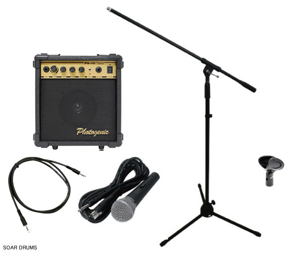 soar sound easy to use soon wired microphone mic stand amplifier speaker cassette. Black Bedroom Furniture Sets. Home Design Ideas