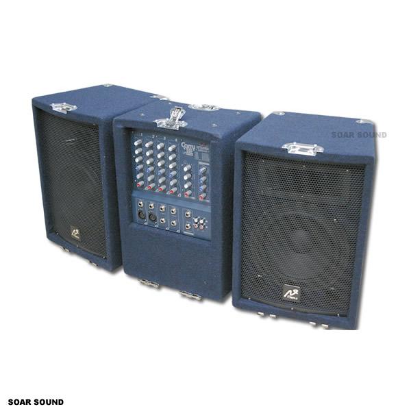 【中古品・1台限り!】キャリー型モバイルPAシステム(パワードミキサー + スピーカー x2台)CARRY-1.5 DSP / Neu