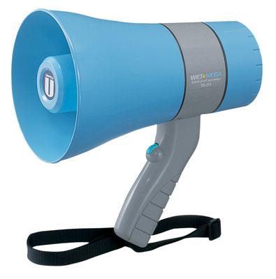 UNIPEX ユニペックス 6W出力 防滴 メガホン 拡声器 TR-215A 野外対応 軽量 小型 電池式 電池駆動 防水(防滴)設計