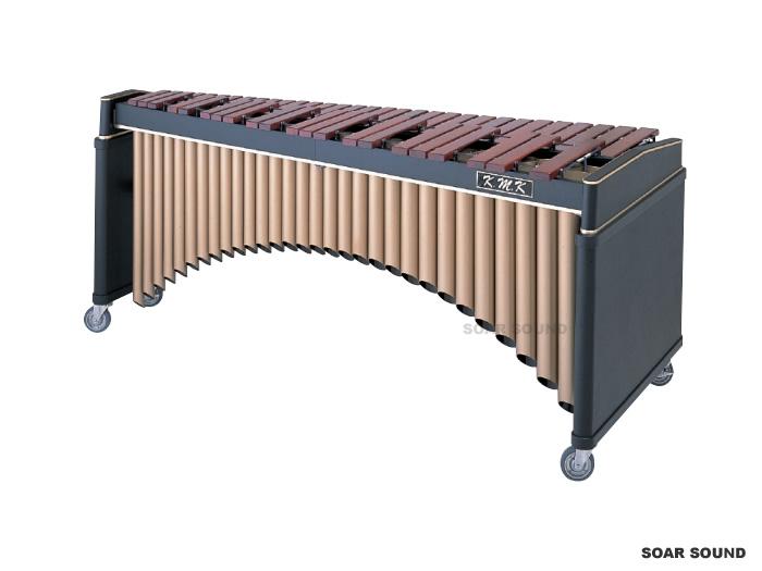 K.M.K マリンバ KK-M4300 KMK A25-C76(4-1/3オクターブ) 木琴 キャスター付き ホンジュラスローズウッド