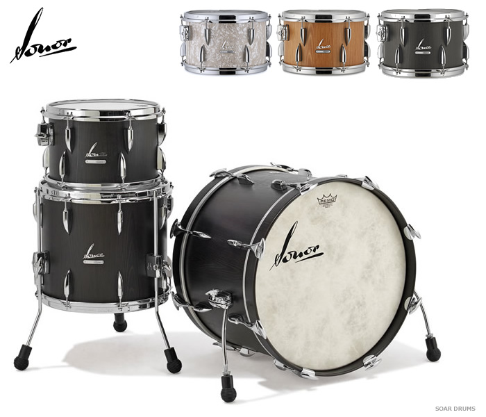 ドラムセット SONOR ソナー ヴィンテージシリーズ・20インチバスドラムセット VT15-THREE20