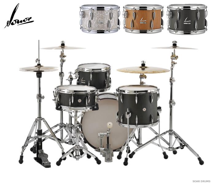 ドラムセット SONOR ソナー ヴィンテージシリーズ・VT15-THREE20 VP + スネアVT15-14575SDW + 600シリーズハードウェアセット