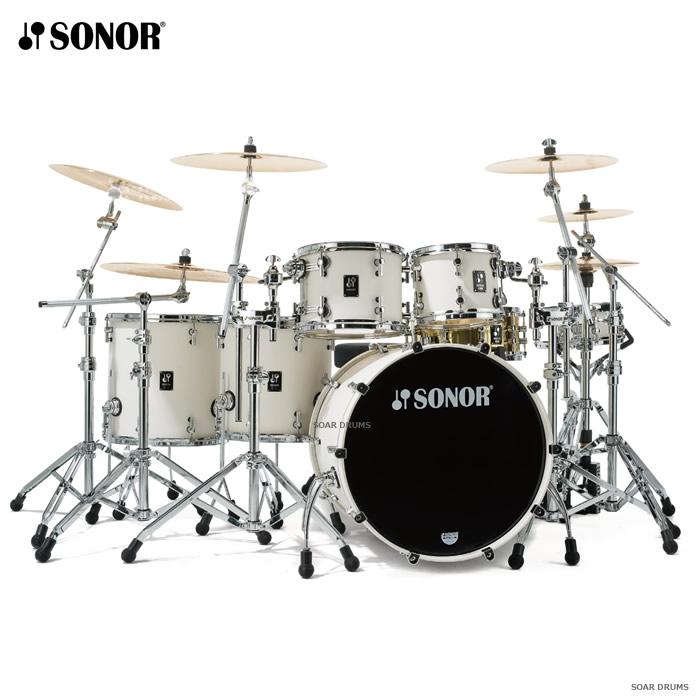 ドラムセット SONOR ソナー プロライトシリーズ・22インチバスドラム+2スネア+2フロア+ハードウェア600シリーズ フルセット