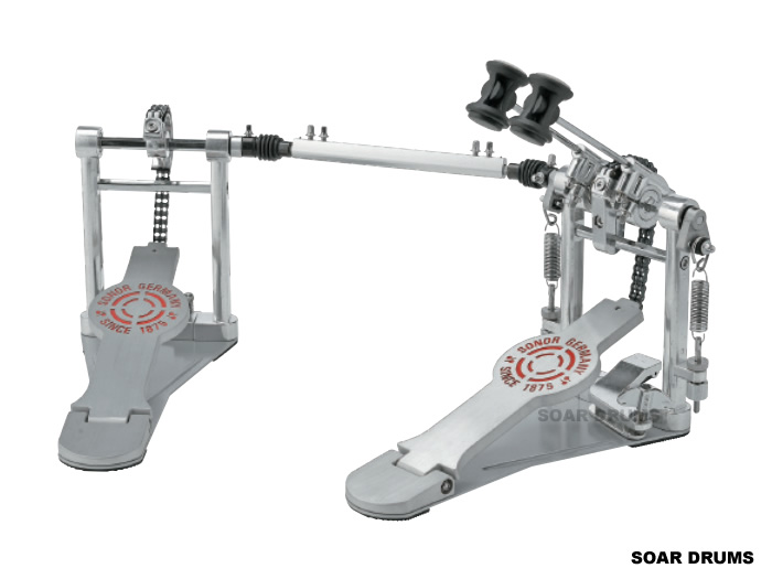 SONOR ソナー ツインペダル 4000シリーズ ダブルペダル ダブルチェーン SN-DP4000 ケース付き