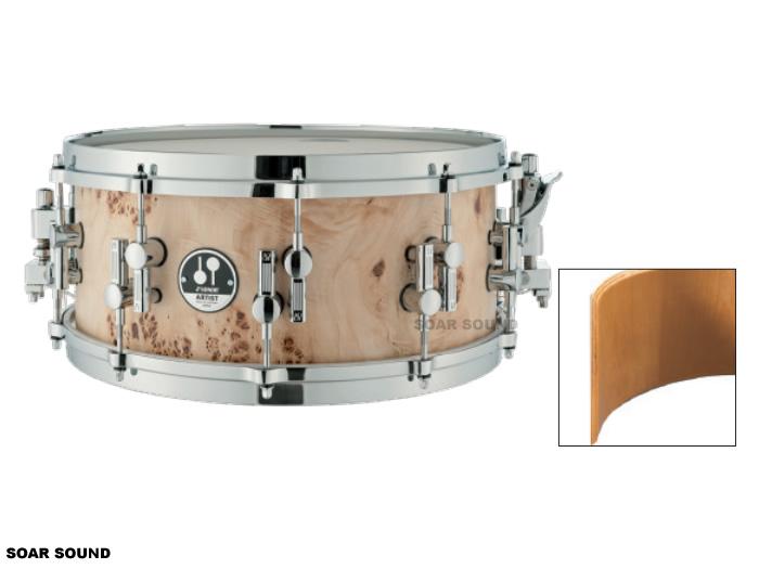 SONOR ソナー スネアドラム コットンウッド・メイプル 14x6インチ アート・デザイン AS12-1406CM 小太鼓 コンサートスネアドラム