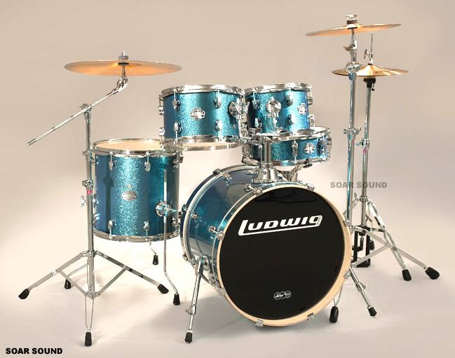【全部セット!】 Ludwig ラディック ドラムセット エレメントシリーズ LCF50P Element Pop スタンド・シンバル付属!
