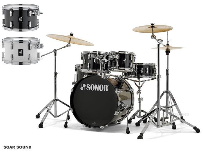 SONOR ソナー ドラムセット 20インチバスドラム付属 100%バーチ AQ1 STUDIO ステージシリーズ ホワイト or ブラック AQ1ST