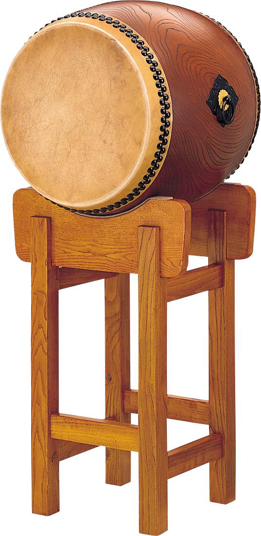 1자 9치수(57 cm) 큰북(궁북) 용 씨름판의 네모퉁이에 세운 기둥대・스탠드다리 Wadaiko Yonhon 일본식 북 FP-19